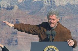 Clinton at Grand Canyon