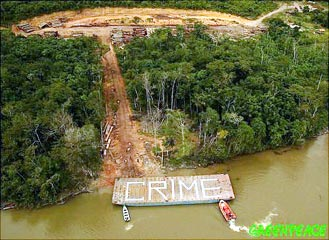 Greenpeace action against Amazon logging
