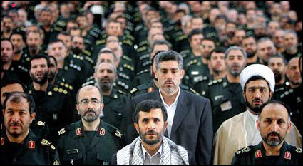 Ahmadinejad and Basij Militia